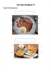 English Worksheet: Continental or typical English breakfast?