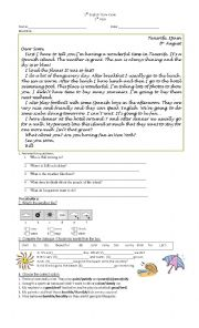 English Worksheet: new headway elementary units 12,13 and 14
