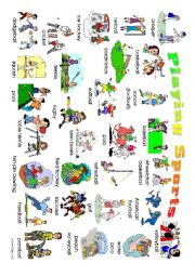 English Worksheet: Playing Sports Posters: 2 high definition posters for display and use