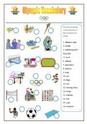 English Worksheet: Olympic Games Vocabulary worksheet