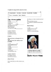 English Worksheet: Song Worksheet - I am - Christina Aguilera