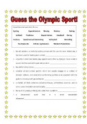 Guess the Olympic Sport