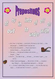 Test of prepositions- advanced (+ key)