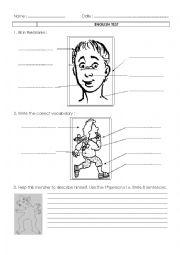 English Worksheet: easy test