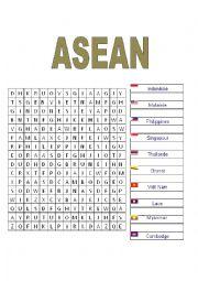 English Worksheet: ASEAn Crossword