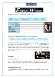 English Worksheets: The Freedom Writers