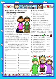 English Worksheets: Sentence Correction-1 (b&w+key included)