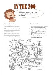 English Worksheets: In the ZOO