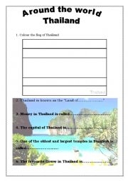 English Worksheet: Around the world 4 - Thailand