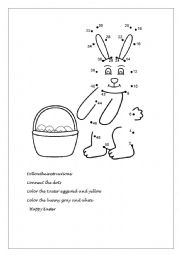 English Worksheet: Easter bunny and its eggs