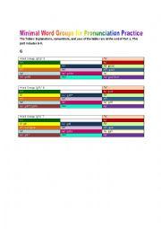English Worksheets: Minimal Word Groups, part 2