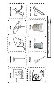 English Worksheet: HOUSEHOLD CLEANING AND LAUNDRY