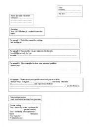 English Worksheets:  layout of the letter  of application