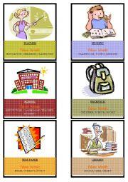 School Taboo Cards
