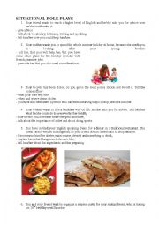 English Worksheet: situational role play A2- B1 level