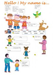 English Worksheets: Hello! What´s your name?