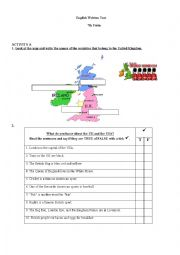 English Worksheets: Countries; The U.K and the USA ; Personal identification