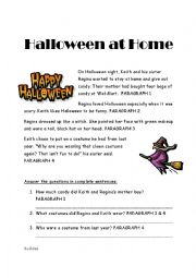 English teaching worksheets: Halloween readings