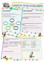 English Worksheets: DEATH OF THE SINGLE