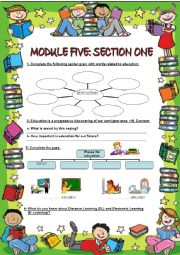 English Worksheets: EDUCATION: TRADITIONAL vs MODERN*** DISTANCE LEARNING * E-LEARNING * SPACIAL EDUCATION