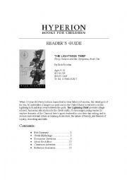 English Worksheet: Percy Jackson and the Lightning Thief