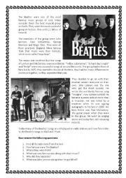 English Worksheets: The Beatles