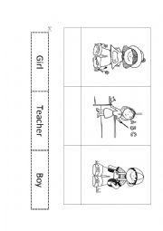 English Worksheets: boy-girl-teacher