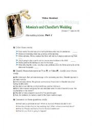 English Worksheet: Video Session FRIENDS- The one with Chandler�s and Monica�s wedding