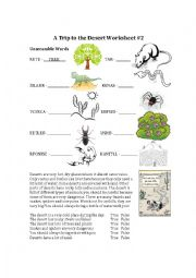 animals and plants from the desert esl worksheet by ace308. Black Bedroom Furniture Sets. Home Design Ideas