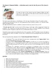 English Worksheets: the queen�s diamond jubilee