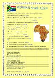 Webquest South Africa