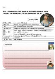 English teaching worksheets: Biographies