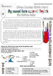 English Worksheet: The fortune teller