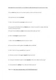 English Worksheets: Hypothetical and silly questions