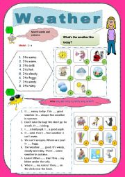 English Worksheets: Weather/Seasons/Activities in every season/ (Special and General questions)