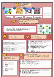 English Worksheets: Weather/Seasons/Questions/Word order
