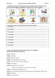English Worksheets: Group Session about minor ailments