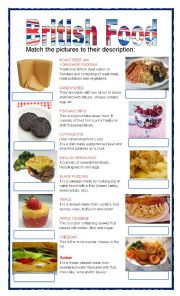 English Worksheets: Typical london food