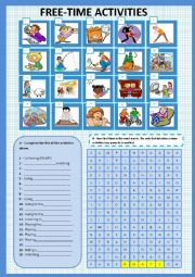 English Worksheets: Free-time activities