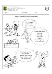 English Worksheets: Why is exercise important?