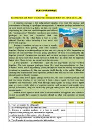 Test: TOURISM (1)