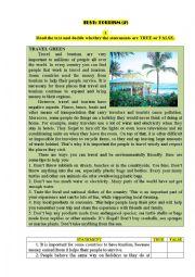 English Worksheet: Test: TOURISM (2)