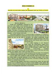 English Worksheet: Test: TOURISM (3)