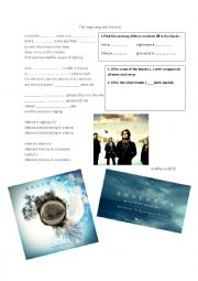 English worksheet: The Beginning and the End by Anathema