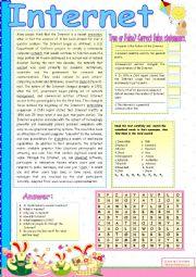 English Worksheets: INTERNET.
