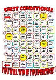 English Worksheet: type one conditional board game