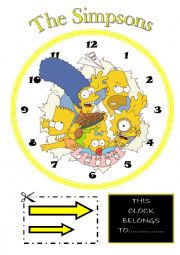 English Worksheet: Learning the time with the Simpsons