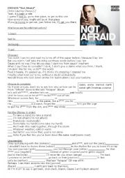 English Worksheets: Eminem Song Not Afraid