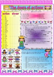 English worksheet: Actions and Doers