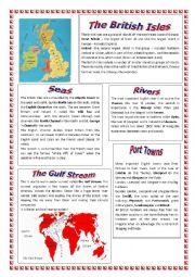 English Worksheet: ABOUT THE BRITISH ISLES